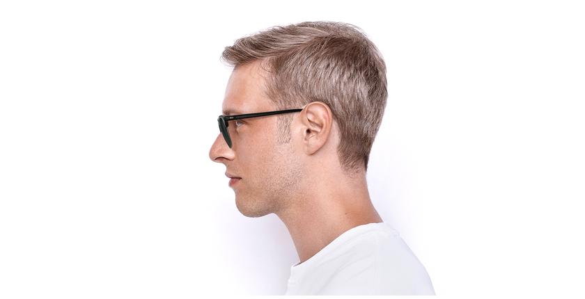 Gafas de sol CLUBMASTER negro/dorado - vista de lado