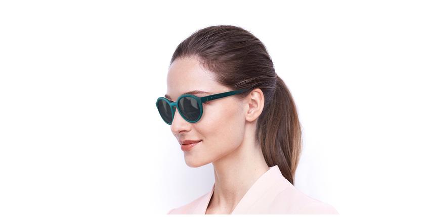 Gafas de sol mujer BIANCA POLARIZED verde - vue de 3/4