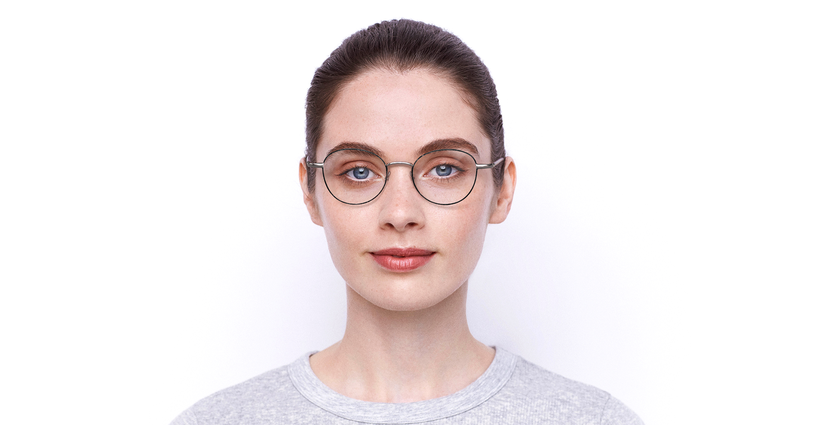 Gafas graduadas mujer NELIA negro/rosa - vista de frente