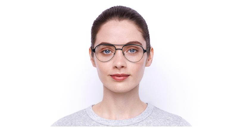 Gafas graduadas NAEL azul/plateado - vista de frente