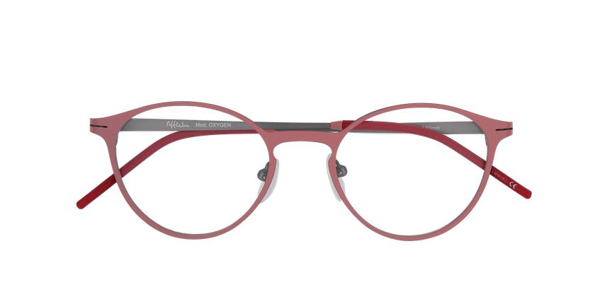 Gafas graduadas mujer OXYGEN rosa/plateado - vista de frente