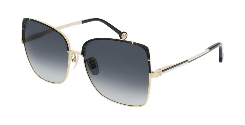 Gafas de sol mujer SHE172 dorado/negro - vue de 3/4