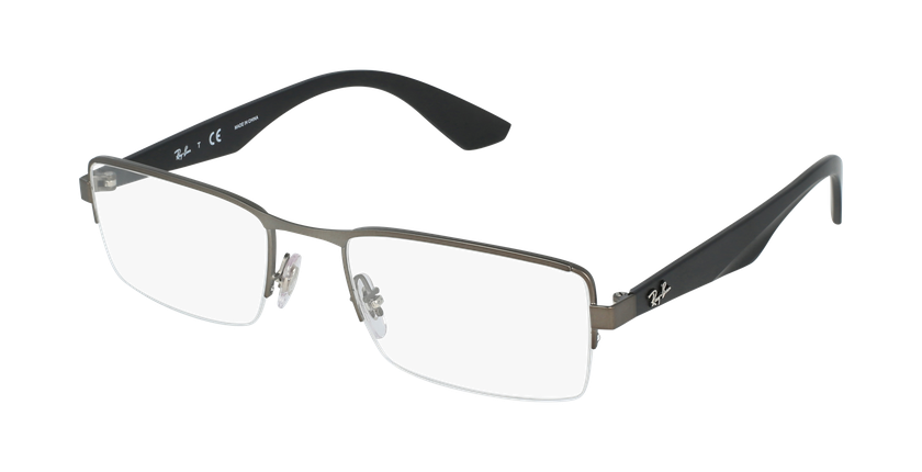 Gafas graduadas hombre RX3447V plateado - vue de 3/4