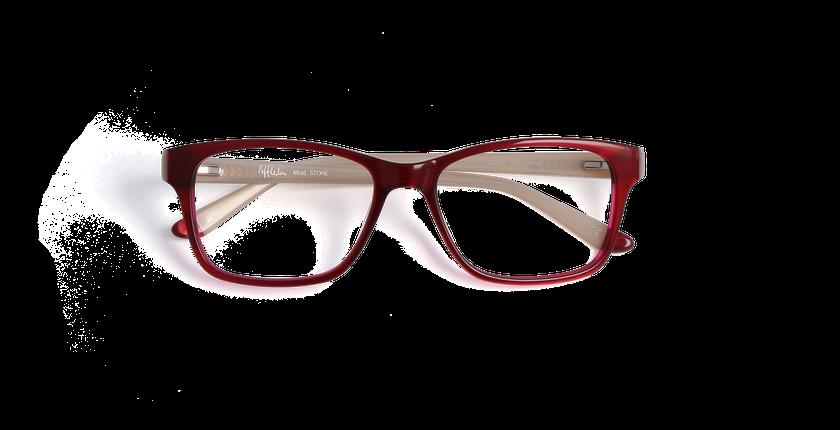 Gafas graduadas mujer STONE rojo/marrón - vista de frente