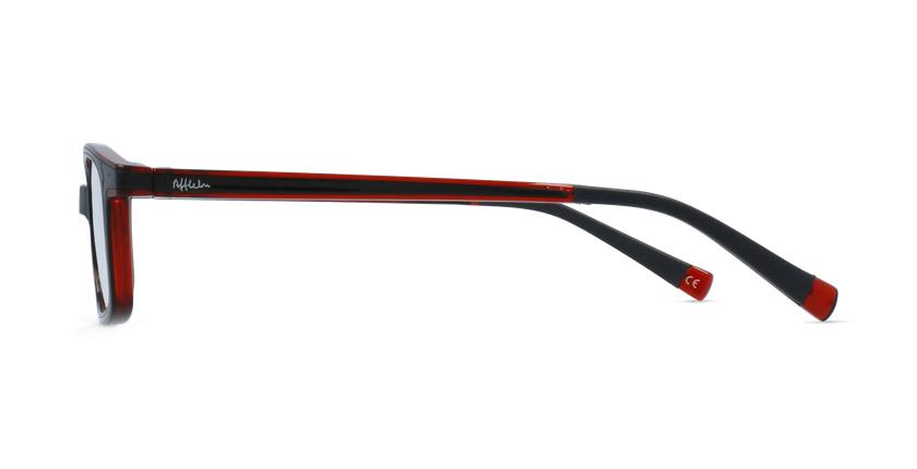 Gafas graduadas niños RFOP1 negro/rojo - vista de lado