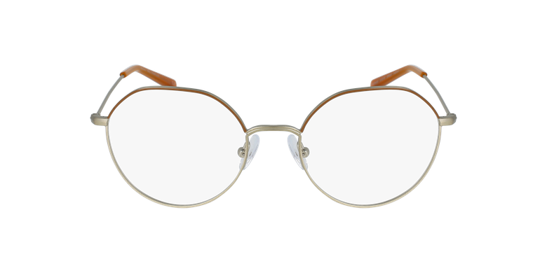 Gafas graduadas mujer ANAELLE marrón/doradovista de frente