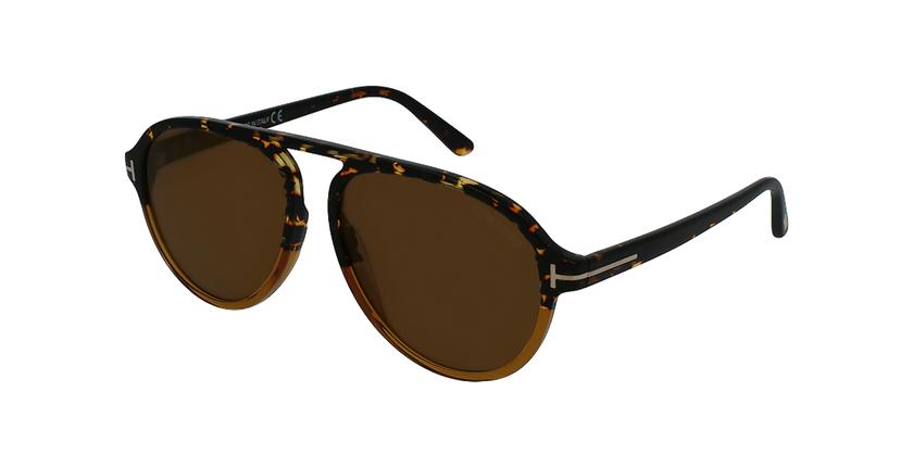 Gafas de sol hombre TONY marrón - vue de 3/4