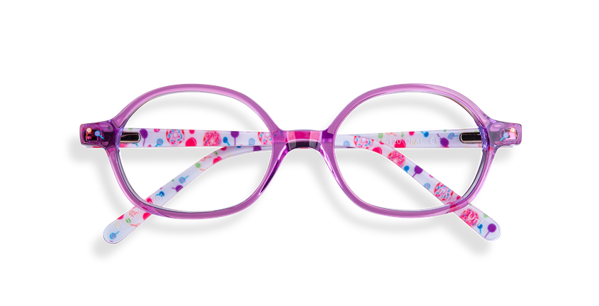 Gafas graduadas niños FLUFFY1 rosa - vista de frente
