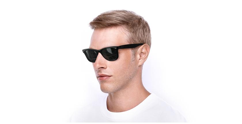Gafas de sol WAYFARER negro/negro - vue de 3/4