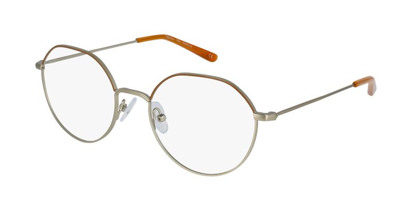 Gafas graduadas mujer ANAELLE marrón/dorado - vue de 3/4
