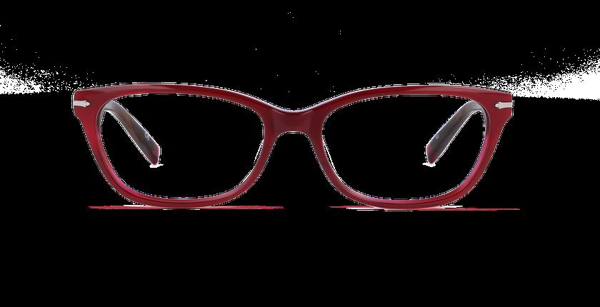 Gafas graduadas mujer PLYMOUTH rojo - vista de frente