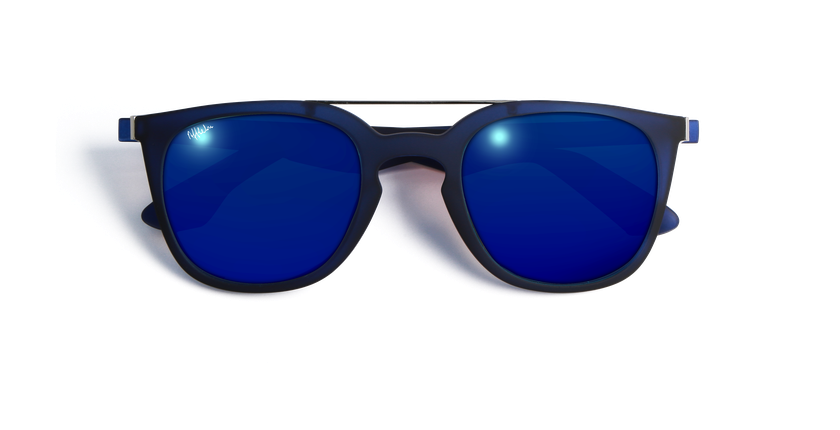 Gafas de sol hombre CAGLIARI POLARIZED azul - vista de frente