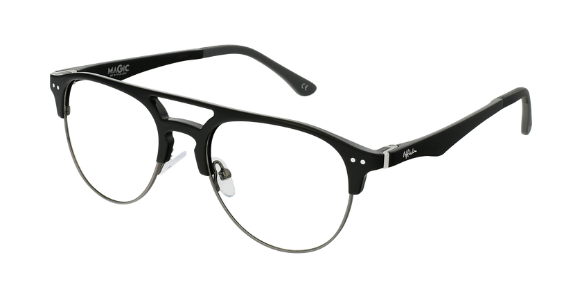 Gafas graduadas hombre TMG91 negro/gris - vue de 3/4