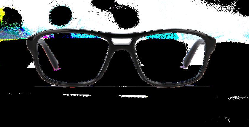 Gafas graduadas hombre ELIO negro - vista de frente