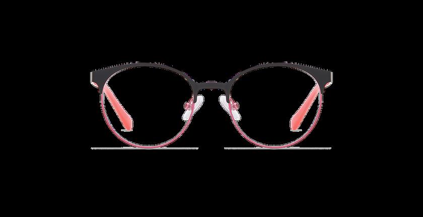 Gafas graduadas niños AYLA negro/rosa - vista de frente