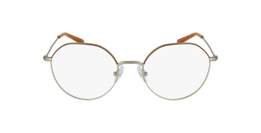 Gafas graduadas mujer ANAELLE marrón/dorado - vista de frente