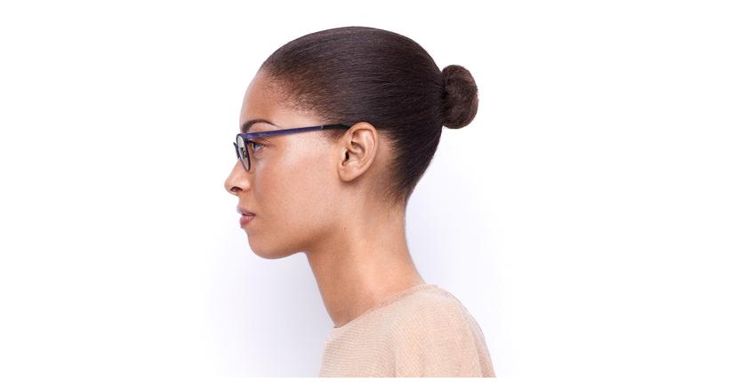 Gafas graduadas mujer MAGIC 45 BLUEBLOCK morado - vista de lado