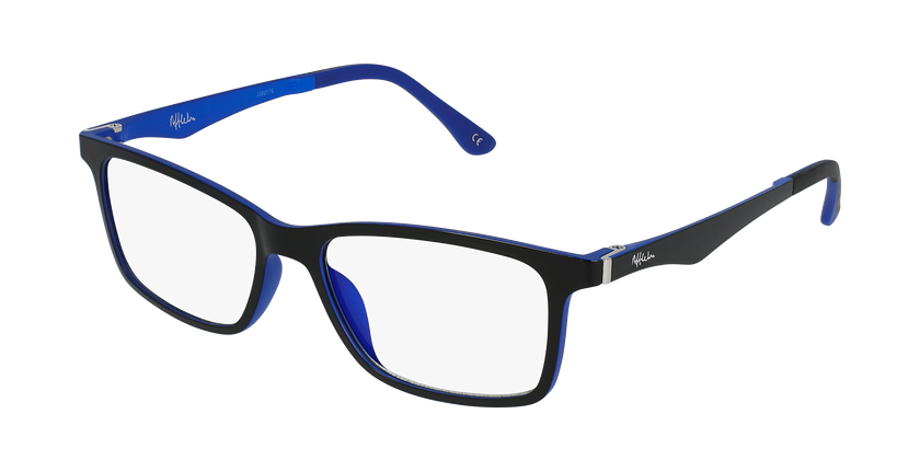 Gafas graduadas hombre MAGIC 32 BLUE BLOCK negro/azul - vue de 3/4
