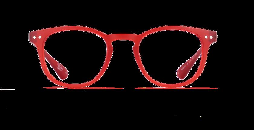 Gafas graduadas BLUE BLOCK UNISEX rojo - vista de frente