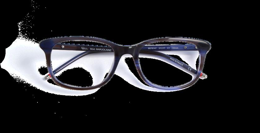 Gafas graduadas mujer MARJOLAINE azul - vista de frente