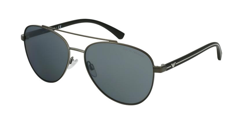 Gafas de sol hombre EA2079 negro/negro - vue de 3/4