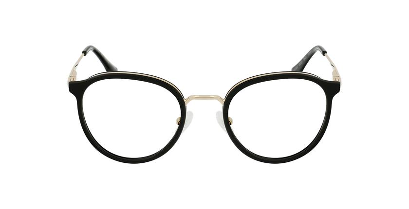 Gafas graduadas INDIANA negro/dorado - vista de frente