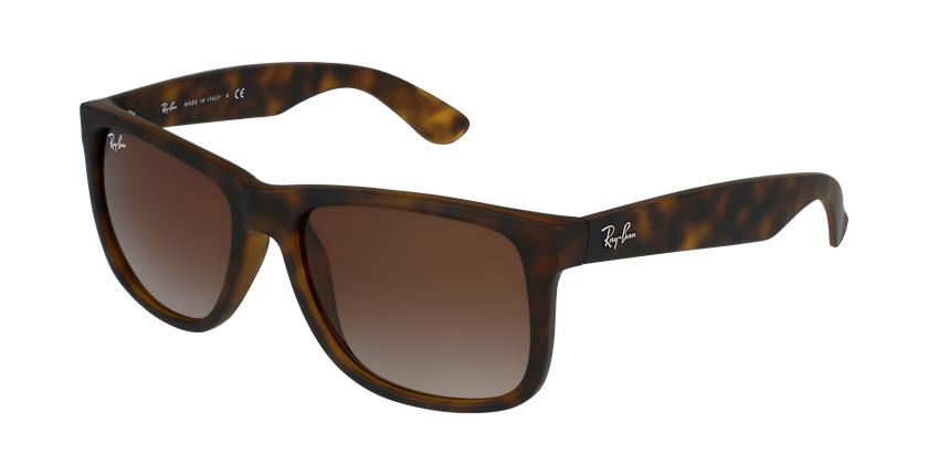 Gafas de sol hombre JUSTIN marrón/negro - vue de 3/4