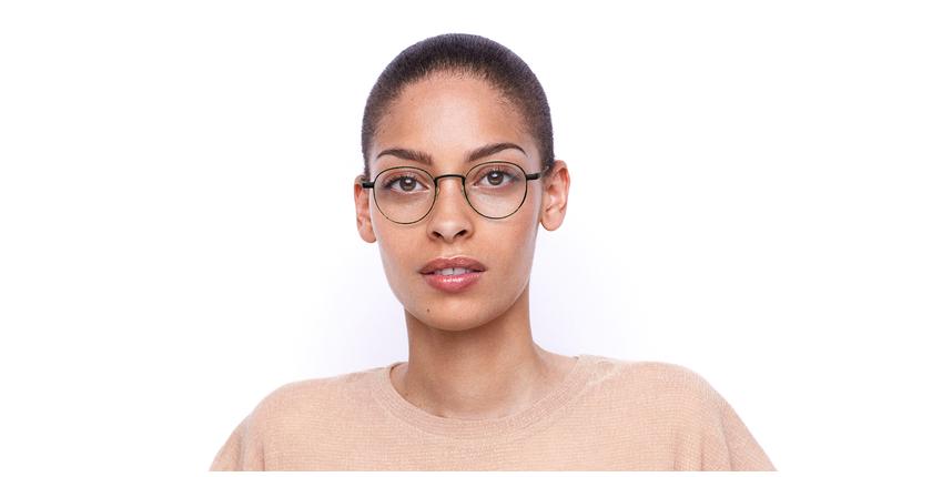 Gafas graduadas MAGIC 70 negro/dorado - vista de frente