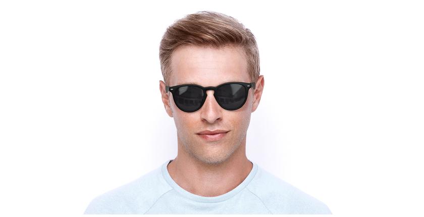 Gafas de sol H2O negro - vista de frente