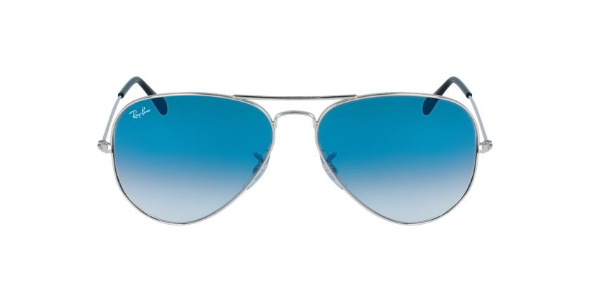 Gafas de sol AVIATOR LARGE METAL plateado/azul - vista de frente