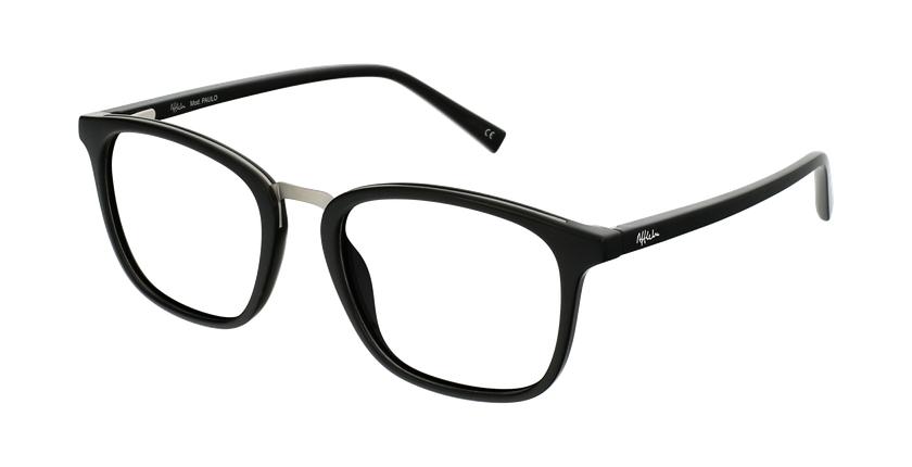 Gafas graduadas hombre OAH21613 negro/plateado - vue de 3/4