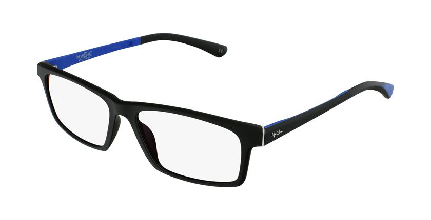 Gafas graduadas hombre MAGIC 62 negro/azul - vue de 3/4