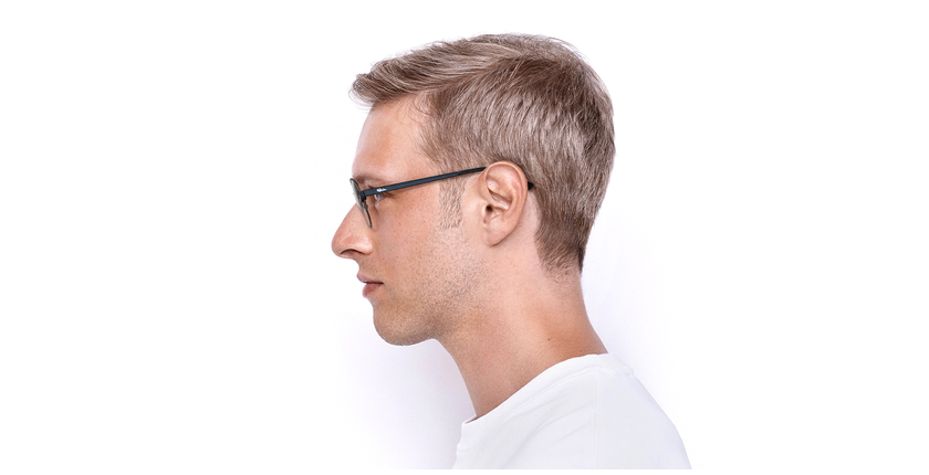 Gafas graduadas NAEL azul/plateado - vista de lado