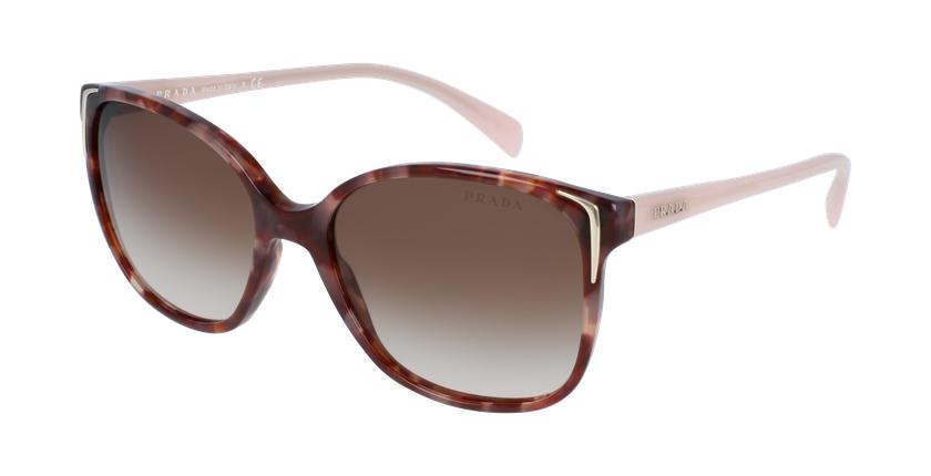 Gafas de sol mujer 0PR 01OS marrón/rosa - vue de 3/4