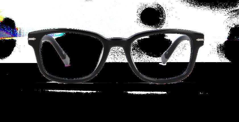 Gafas graduadas hombre GREENWICH negro - vista de frente