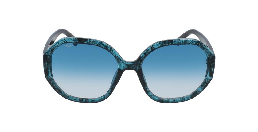 Gafas de sol mujer AURORA turquesa - vista de frente