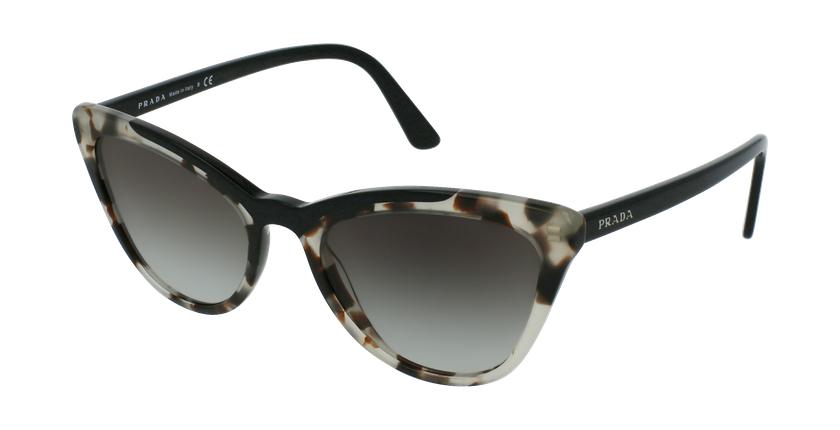 Gafas de sol mujer 0PR 01VS negro - vue de 3/4