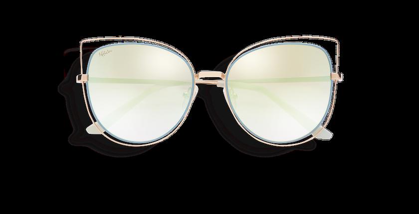 Gafas de sol mujer CHULA dorado/azul - vista de frente