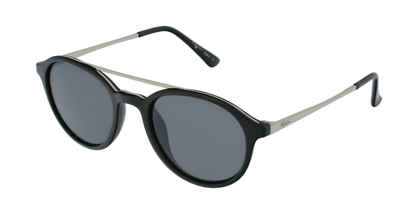 Gafas de sol GLENN POLARIZED negro/plateado - vue de 3/4