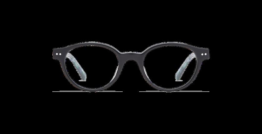 Gafas graduadas niños MINIMI negro/verde - vista de frente