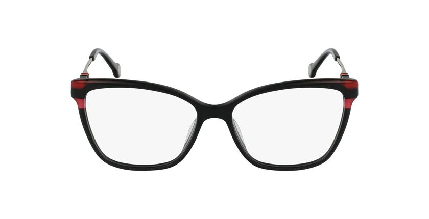 Gafas graduadas mujer VHE850 negro/rojo - vista de frente