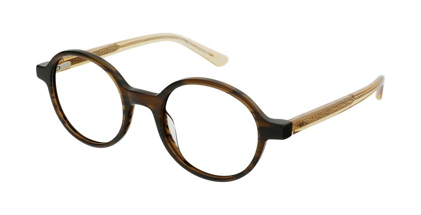 Gafas graduadas mujer OAF21619 marrón - vue de 3/4