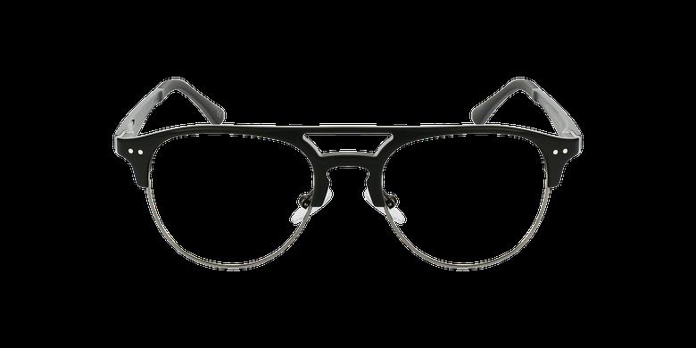 Gafas graduadas hombre TMG91 negro/grisvista de frente
