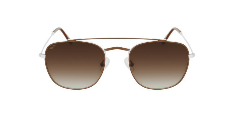 Gafas de sol hombre TOSSA marrón/blancovista de frente