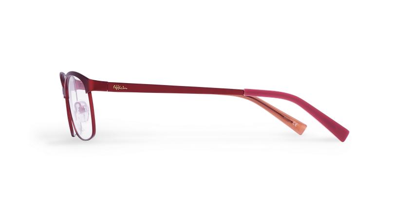 Gafas graduadas mujer SHIRLEY rojo - vista de lado