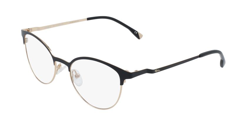 Gafas graduadas mujer MAGIC 54 BLUEBLOCK negro/dorado - vue de 3/4