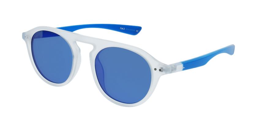 Gafas de sol BORNEO blanco/azul - vue de 3/4