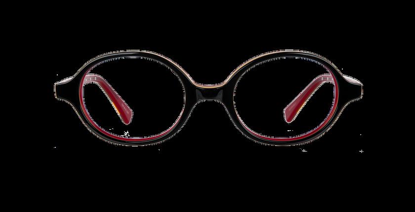 Gafas graduadas niños KEVIN negro/rojo - vista de frente