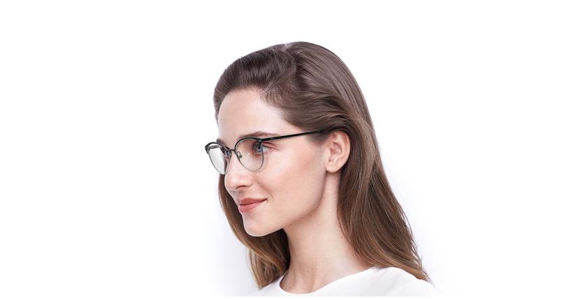 Gafas graduadas mujer SUE azul - vue de 3/4