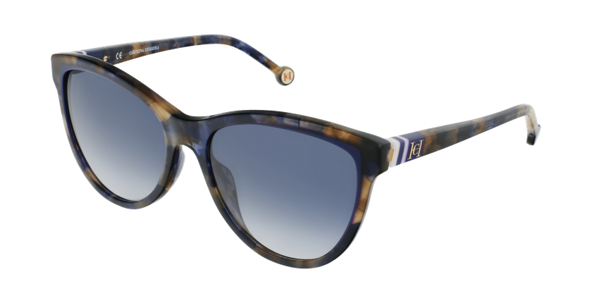 Gafas de sol mujer SHE868V negro/azul - vue de 3/4